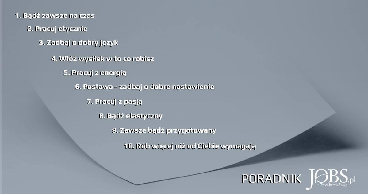 10 zasad pracownika doskonałego: blog JOBS.PL